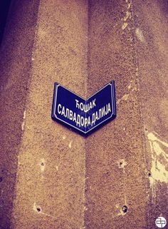 La esquina de Salvador Dalí, en Belgrado (Serbia)