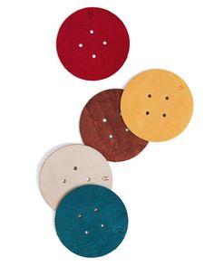 Hender Scheme Leather Coasters