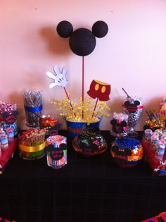 mickey mouse clubhouse first birthday mickey mouse candy table buffet by experience creativitee