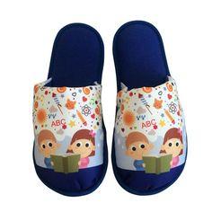 Pantufa Infantil ABC Azul Marinho > Conforto Store