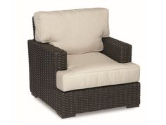 PS - 2nd FLOOR PATIO?? - PATIOLIVING.COM - Sunset West Wicker Cardiff Club Chair #2901-21 FINISH: Dark Walnut FABRIC COLOR: ??  35w x 38L x 35h SALE $943