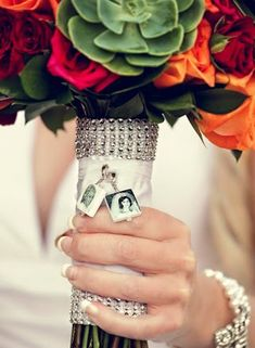 BC3x2 Wedding Bouquet Memorial Photo Charms by DelaneyPhotoJewelry, $90.00