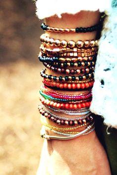 Bohemian Bead Bracelets #bohemian bracelets www.loveitsomuch.com