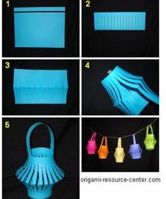 Chinese lantaarn, zelf eenvoudig te maken van allerlei papier.