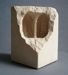 Limestone sculpture by Matthew Simmonds