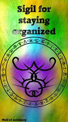 Wolf Of Antimony Occultism: Photo Magick Book, Wiccan Spell Book, Witch Spell, Wiccan Spells, Magic Spells, Witchcraft, Wiccan Symbols, Sigil Magic, Magic Symbols