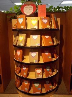 """Algona Public Library's """"Blind Date with a Book"""" display. Click through for more photos!"""