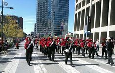...the 2013 Veterans Day parade and ceremony in downtown Dallas yesterday, Nov. 11, and the Woodrow Wilson Wildcat Band and ROTC was one of them.