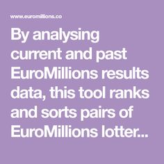 12 Best Euromillions Results Images Euromillions Results Draw Friday