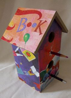 Birdhouse made by Alison Morris from Book Fiesta! (Harper Collins, March 2009) written by Pat Mora and illustrated by Rafael Lopez