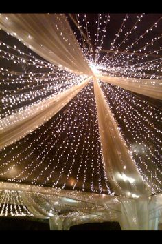 Top of the tent for reception