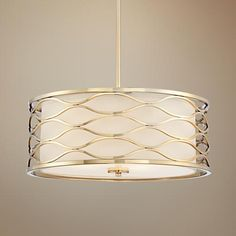 "ONE FOR MASTER BEDROOM, NEEDS FOUR 60W BULBS, Austen 20"" Wide Plated Gold Pendant Light"