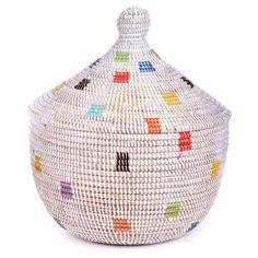 To put babywraps blankets, etc.. Prismatic Pixels African Prayer Mat Warming Basket, http://www.amazon.com/dp/B00JZXMWJA/ref=cm_sw_r_pi_awdm_Cf0Xtb1MXTQTX