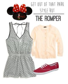 I'd love to take a comfortable Romper on my next trip to Disney! Any Disney Parks fan knows that it's tough to be comfortable, rep your favorite Disney fandom, and look cute all at once on a long day at Disneyland or Walt Disney World. Disney World Outfits, Disneyland Outfits, Disney Inspired Outfits, Disneyland Trip, Disney World Trip, Disney Style, Disney Trips, Disney Fashion, Disney Nerd
