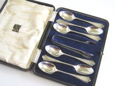 Vintage Art Deco Electroplated Silver Teaspoons by TheWhistlingMan, £14.00