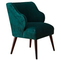 ooo... Teal velvet chair