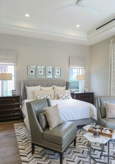 Bedroom wall color is Sherwin Williams Worldly Gray