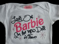 Baby Girl Outfit One Piece Embroidered Baby Girl by LilMamas, $17.00