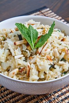 Cauliflower Rice Pilaf  Kevin Lynch really posts some amazing recipes on ClosetCooking!