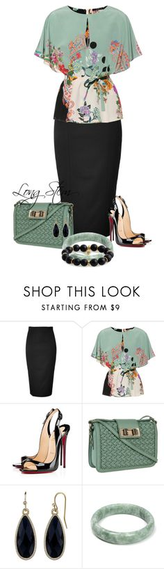 """""""7/08/17"""" by longstem ❤ liked on Polyvore featuring Olympia Le-Tan, Etro, Christian Louboutin, Rebecca Minkoff, 1928 and Bourbon and Boweties"""
