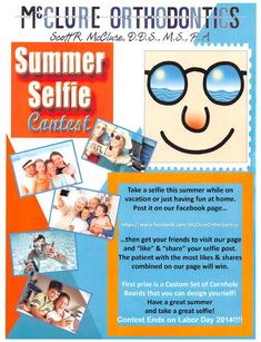 Enter our McClure Orthodontics Summer Contests and Win Custom ...