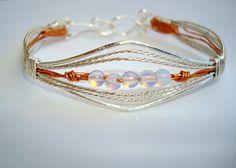 Bracelet Opalite Wire Sculpture by CrookedCrystal on Etsy, $22.50