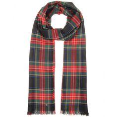 Saint Laurent - Black/Red/Green Tartan Cashmere scarf - mytheresa.com GmbH