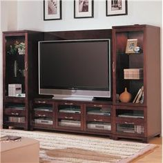 Marvelous Home Design Breathtaking Wooden Tv Wall Units With Centered Tv Largest Home Design Picture Inspirations Pitcheantrous