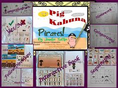 Lots of activities in this Companion Packet! Pig Kahuna Pirates Speech Language Companion