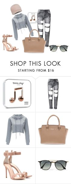 """""""look 15"""" by cawdii on Polyvore featuring Michael Kors, Gianvito Rossi and Ray-Ban"""