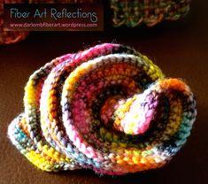 Hyperbolic Crochet: Expanding Spirals Tutorial, scarf, free pattern, #haken, gratis patroon (Engels), krul, sjaal, spiraal haken, #haakpatroon