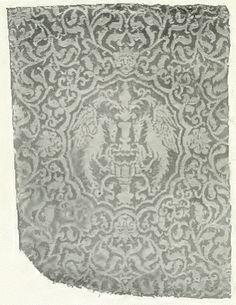 Sicilian silk textile design produced in the14th century.