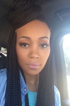 looove the box braids and how she styled them