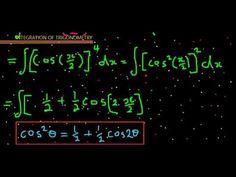 integration of trigonometry cosx