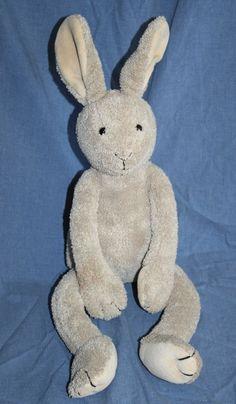 "Large Pottery Barn Kids Baxter Bunny Brown Rabbit Plush Tan Stuffed Animal 20""  #PotteryBarnKids #BaxterBunny #PBK"
