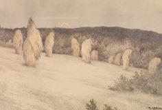 Mer om Theodor Kittelsen, Kornstaur i måneskinn