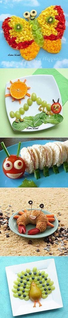 Идеи для украшения детских блюд