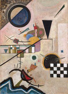 """Wassily Kandinsky: """"Gegenklänge"""", 1924, Öl auf Karton 70 x 49,5 cm"""