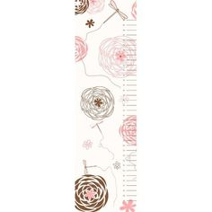Secretly Designed Dragonflies and Flowers Growth Chart