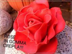 DIY Rose in gomma crepla, fommy o gomma eva!!! I Elimo73 - YouTube