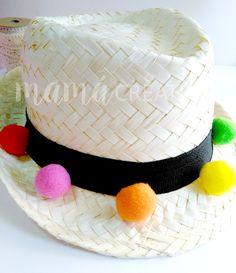 como decorar un sombrero de paja  5d8783f8af0