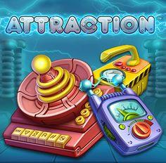 Känn den elektriska laddningen i Attraction. Vinn stort med magnetiska fält av Sticky Wilds och re-spins. Prova spelet idag hos Viking Slots: https://sv.vikingslots.com/