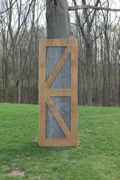 Rustic Barn Door Sliding Barn Door w/Barn Tin 1142 by Keeriah