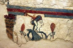 Potnia Theron (Mistress of the Animals) painting, Ancient Mycenae. Image by Klearchos Kapoutsis / CC BY 2.0
