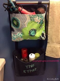 Thirty-One gifts Oh-Snap Pockets! Perfect for organizing the bathroom.