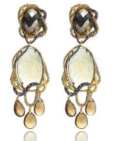 alexis-bittar-fall-2012-elements-collection-gold-siyabona-mystic-green-dangling-clip-earrings