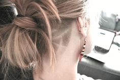 Sneak peak of my mandala inspired nape undercut! Stands out even though I have blonde hair.