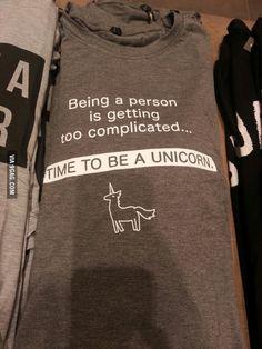 time to be a unicorn shirt