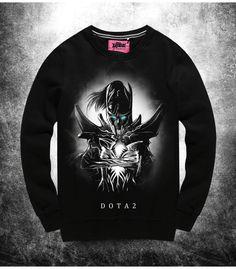 DOTA 2 Phantom Assassin Sweatshirts Mens black Mortred Hoodies
