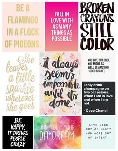 Flamingos + Fringe Blog | SATURDAY SAYINGS Love a good quote? Here are some of my faves!